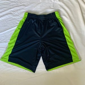 Other - Navy blue & lime green basketball shorts